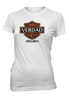 Jesus Camino Verdad Vida Versiculo Biblia Camiseta Cristiana Mujer   mujerescristianas Dios Es Amor e92d561e1e903