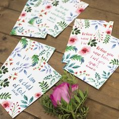 Set of 6 Encouraging Christian Postcards Christian Prints Inspirational Verses, Encouraging Bible Verses, Bible Encouragement, Jeremiah 1, Holiday Club, Pop Collection, Fearfully Wonderfully Made, Brighten Your Day, Small Groups