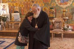A girl is hugging the Georgian Orthodox Patriarch! :)