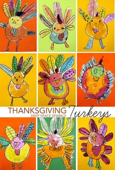 Teacher directed Thanksgiving turkey drawings!! I love how unique each one turned out!! I will be using this!!