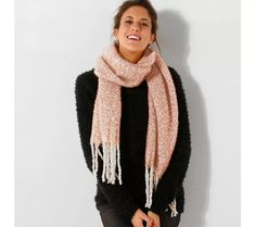 Šál so strapcami Styles, Ainsi, Polyester, New York, Design, Products, Fashion, Fringe Scarf, Long Scarf