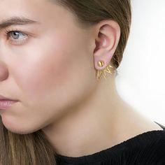 Ακτίνες φωτός Ear JacketsFront Πίσω Σκουλαρίκια διπλής όψης