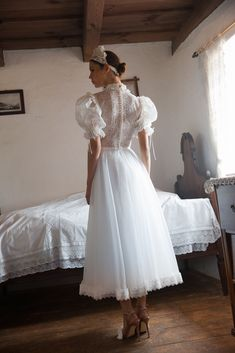 FOLK - Daalarna's Newest Bridal Collection Autumn Winter 2020 Mermaid Gown, Mermaid Dresses, Bridal Dresses, Flower Girl Dresses, Formal Wedding, Wedding Gowns, Bridal Fabric, Tea Length Wedding Dress, Bridal Collection