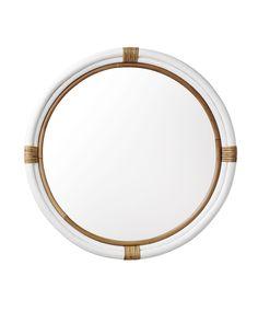 Decorating with Mirrors. Beautiful round mirror.