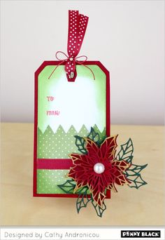 Need holiday tag-making inspiration? Visit the Penny Black blog for a week full of ideas using stamps and dies from our newest Christmas release!