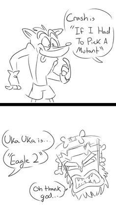 Crash and Uka Uka