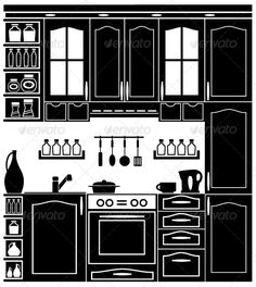 Icon Image Kitchen and Accessories   #GraphicRiver         Vector illustration. It is created in the CorelDraw program. It is edited in the Adobe Illustrator program. It is kept in illustrator eps version 8. The file can be edited in any program of vector graphics. The size of the file can be increased till any size without quality loss. In this file there are no gradiyentny fillings and mesh. File full-color. The illustration can be used both entirely, and in parts.     Created: 17July13…