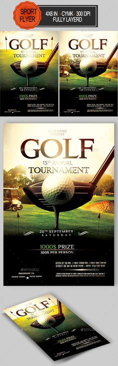 Fishing Tournament Flyer Template by Joe Krow, via Behance - golf tournament flyer template