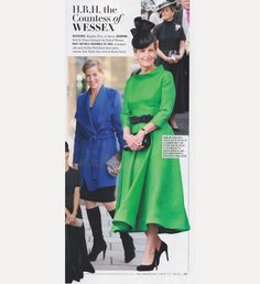 HRH Countess of Wessex was voted within the Vanty Fair Best Dressed Women Poll of 2015. Alongside Amal Clooney, Taylor Swift and others. We were thrilled that the chosen main photo was that of our Green Obsession Dress with Couture Belt..2015 x