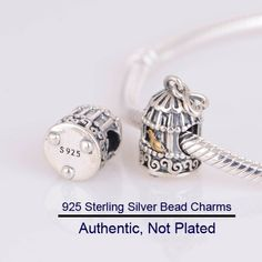 85617bd6e Cheap fine jewelry, Buy Quality charm bead 925 directly from China charm  silver bead Suppliers: Real Gold Birdcage Beads Genuine 925 Sterling Silver  Charm ...