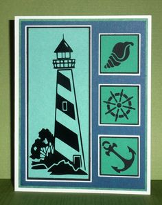 Beautiful Nautical Card, made by Reba1 from the Make the Cut Forum, using my Lighthouse File