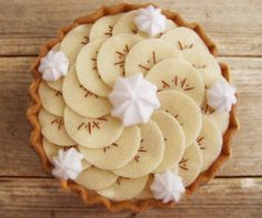 banana creme pie made of felt!
