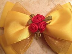 Beauty and the Beast Belle Inspired Bow by RosieRissaBoutique