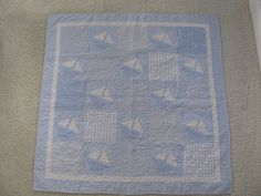 Sailboat Crib Quilt by ThimblePleasure on Etsy
