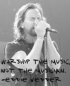 Eddie Vedder quote pinned with Bazaart