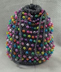 Pony Bead Bag - A free Crochet pattern from jpfun.com.