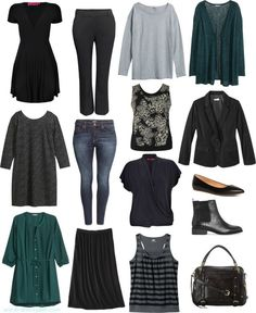 I want to build a mix & match wardrobe with a small number of pieces. This seems to be a perfect selection for me - color & style. Just need some fun accessories/jewelry.