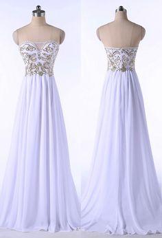 Elegant Long Chiffon Prom Dress