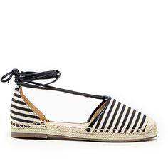 Sole Society Tallulah Ankle Tie Espadrille (6455 RSD) ❤ liked on Polyvore featuring shoes, sandals, black white woven stripe, leather shoes, woven sandals, braided leather sandals, woven leather shoes and leather espadrilles