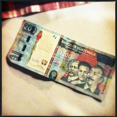 This is 200 quetzal in Guatemala. It's about as rare as a $2 bill!