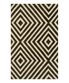 Take a look at this Brown & Cream Zuel Wool-Blend Rug by The Rug Market on #zulily today! $300 !!