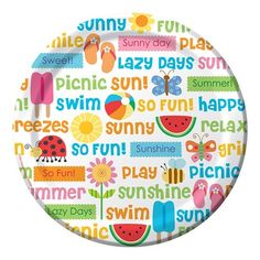 Lazy Days Dinner Plates, perfect for a summertime picnic!