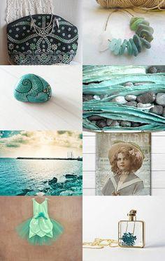 Aqua by Gioconda Pieracci on Etsy--Pinned with TreasuryPin.com