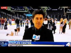 A Woman Wearing High Heels Totally Faceplanted On The Ice After The Stanley cup