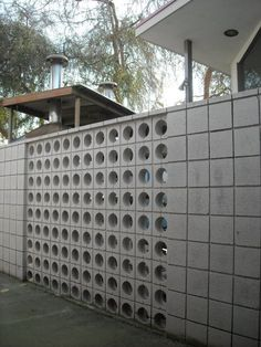 Early 1960s concrete block/brick wall, Porterville, CA. DSMc. 2011. Isn't this Dr. Neal and Dr. Gibbs old office?