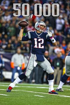 Tom brady became the qb in nfl history to pass for yards Patriots Memes, Nfl New England Patriots, Patriots Football, But Football, Nfl History, Boston Sports, Boston Strong, Go Blue, Tom Brady