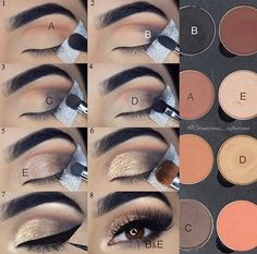Eyeshadow tutorial – Glitz and Glamour Makeup Eyeshadow tutorial Eyeshadow tutorial Makeup 101, Makeup Hacks, Makeup Inspo, Makeup Brushes, Beauty Makeup, Hair Makeup, Eye Brushes, Makeup Geek, Makeup Ideas