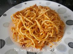 No soy un blog de cocina: ESPAGUETTIS CON ATÚN