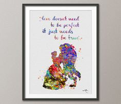Beauty and the Beast Quote Belle Disney Princess Watercolor Nursery Art Wedding Gift idea Girls Wall Art  Home Decor Wall Hanging [NO 367] by CocoMilla on Etsy https://www.etsy.com/listing/220566716/beauty-and-the-beast-quote-belle-disney