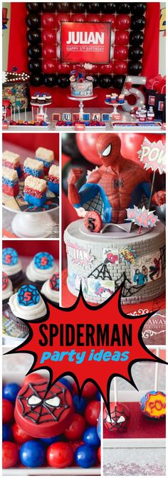 You have to see this amazing Spiderman birthday party! See more party ideas at CatchMyParty.com!