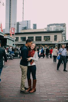 Seattle, WA, Engagement session, Pike Place Market - Kim Butler Photography