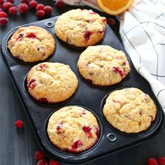 These Cranberry Orange Muffins are packed with tart cranberries and zesty orange flavour and they make the perfect sweet treat or snack!