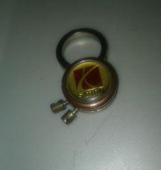 Vintage Saturn USA Keychain Fob Red Logo G9205207.D  #Saturn