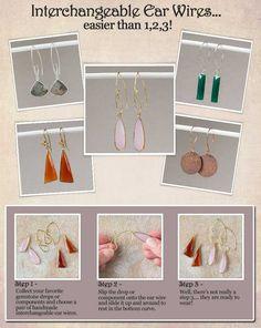 Interchangeable Earrings!!
