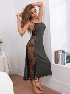 Lingerie Outfits, Lingerie Dress, Pretty Lingerie, Women Lingerie, Dress Outfits, Fashion Outfits, Satin Cami Dress, Satin Dresses, Sexy Dresses