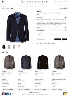 Clothing E-commerce Website by Dogan Aydemir, via Behance