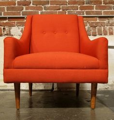 Mid-century modern - I need this chair. I would decorate my whole house around it ... wish it was in off white.