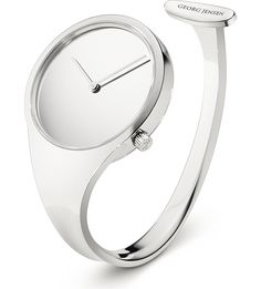 GEORG JENSEN - Vivianna stainless steel bangle watch 34mm | Selfridges.com