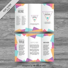 tri fold templates free download