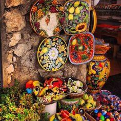 Ravello - Amalfi Coast, Italy, Ravello, Italy — by Fen. More colorful ceramics at Ravello.