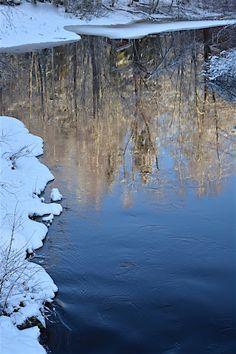 talvinen jokimaisema vesistö puutarhablogi