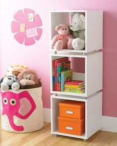 Our Vario Stacking Collection is perfect for a kid's room to store games, books and blankets!