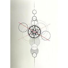 "Laramaju #handpoke #tattoo #sketch #dotwork #geometry #dotart #pointillism #mandala #mandalatattoo #graphic #hamburg"""
