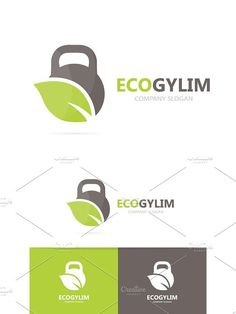 Vector of sport and leaf logo combination. Gym and eco symbol or icon. Unique organic fitness and workout logotype design template.. Sport Icons