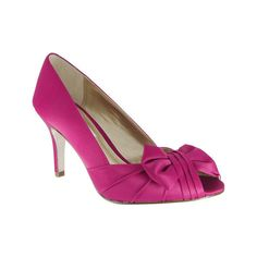 Women's Nina Forbes - Berry Luster Satin Casual ($85) ❤ liked on Polyvore featuring shoes, pumps, casual, high heels, purple, satin peep toe pumps, purple shoes, purple peep toe pumps, purple high heel shoes and leather sole shoes