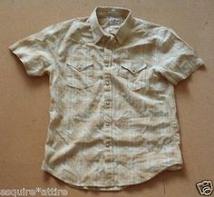 men casual shirts for sale : Lucky Brand men size M short sleeve #casual cotton shirt NWT (snap on buttons) withing our EBAY store at  http://stores.ebay.com/esquirestore